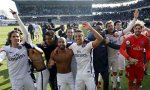 Football Soccer - Paris St Germain v Troyes- French Ligue 1 - Stade de l'Aube stadium, 13/03/16. Paris St Germain players celebrate their French Ligue 1 title after winning against Troyes. REUTERS/Philippe Wojazer