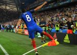 Stamping Your Authority While Having Fun: Payet celebrates after scoring against Albania. Image credit: www.mirror.co.uk/sport/football/