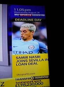 Loaned Out: Nasri offloaded to Sevilla... But still a Man. City player
