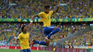 Golden Boy: Neymar spent the year nutmegging his opponents and, ah yes, helping Brazil win that elusive Olympic gold medal in Men's Football
