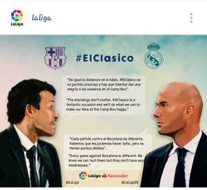 The Face Off, El Clasico Version: Real Madrid take on Barcelona in the biggest football match in club football on Saturday. Photo credits: LaLiga
